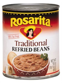 Picture of Refried Beans Regular by Rosarita 40.5 OZ - Item No. 1423