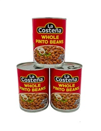 Picture of Pinto Beans - La Costena Whole Pinto Beans 19.8 oz (Pack of 3) - Item No. 1425