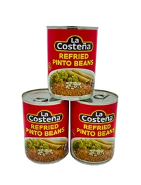 Picture of Refried Beans - La Costena Refried Pinto Beans - Frijoles Refritos 20.5 oz (Pack of 3) - Item No. 1426