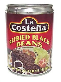 Picture of Black Beans - La Costena Refried Black Beans 20.5 oz (Pack of 3) - Item No. 1428