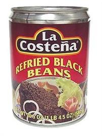 Picture of Black Beans - La Costena Refried Black Beans 20.5 oz (Pack of 3)- Item No.1428