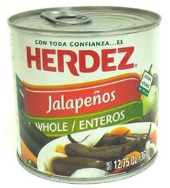 Picture of Jalapenos Herdez Whole 12.75 oz.- Item No.1480