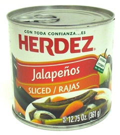 Picture of Sliced Jalapenos Herdez 12.75 oz. - Item No. 1485
