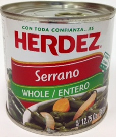Picture of Serranos Herdez 12.75 oz. - Item No. 1487