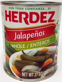 Picture of Jalapenos Herdez Whole 27 oz - Item No. 1490