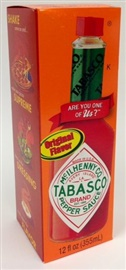 Picture of Tabasco Hot Sauce - Original Flavor 12 fl oz. - Item No. 14918
