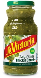 Picture of Thick 'N Chunky Salsa Verde by La Victoria - Salsas -  Mild - 16 oz - Item No. 14923
