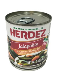 Picture of Sliced Jalapenos Herdez - Rajas de Jalapenos 7 oz (Pack of 3) - Item No. 1495