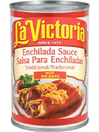 Picture of Red Traditional - Enchilada Sauce La Victoria -  Hot - 10 oz (Pack of 3) - Item No. 14955