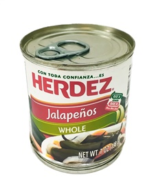 Picture of Jalapenos Herdez  Whole 7 oz (Pack of 3) - Item No. 1505