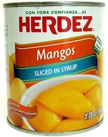 Picture of Sliced Mangos in Syrup by Herdez - Item No. 1535