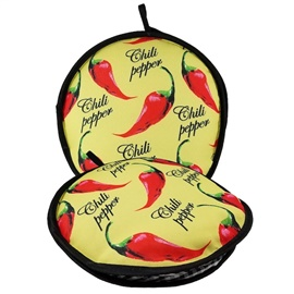 "Picture of La Tortilla Oven ""Mexicali"" Color Chili Peppers Fabric Tortilla Warmer - Item No. 1623"