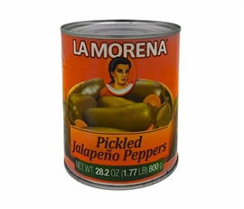 Picture of La Morena Whole Jalape�os Peppers 27 oz. - Item No. 1701