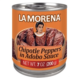 Picture of La Morena Chipotle Peppers in Adobo Sauce 7 oz (Pack of 3) - Item No. 1720
