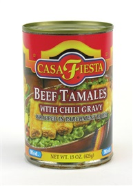 Picture of Casa Fiesta Beef Tamales 15 oz - Item No. 17600-08523