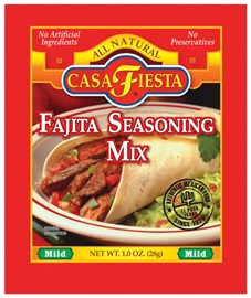 Picture of Casa Fiesta Fajita Seasoning Mix 1 oz - Item No. 17600-08926