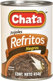 Picture of Chata Refried Black Beans 16 oz (Pack of 3)- Item No.1820
