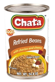 Picture of Chata Refried Beans with Chorizo and Cheese 14.8 oz (Pack of 3) - Item No. 1825