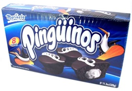 Picture of Pinguinos Marinela - Cream Filled Chocolate Cup Cakes - 8 Pastelitos - 11.3 oz - Item No. 19297
