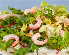 Picture of Warm Tortilla Shrimp Salad Recipe- Item No.200-warmtortillashrimpsalad