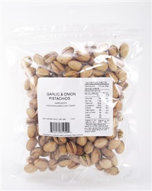 Picture of Garlic and Onion Pistachios 8 oz- Item No.24212-81250