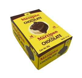 Picture of De la Rosa Marzipan covered with Chocolate 16 pcs - Item No. 24869-00100