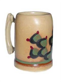 Picture of Mexican Ceramic - Beer Mug with Cactus from Mexico - Item No. 24cj30033