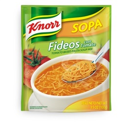 Picture of Knorr Tomato - Fideos Pasta Soup 3.5 oz (Pack of 3) - Item No. 2600