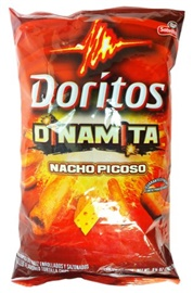 Picture of Doritos Dinamita Nacho Picoso Rolled Flavored Tortilla Chips (Pack of 3) - Item No. 28400-00987