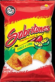 Picture of Sabritones Puffed Wheat Snacks Chile & Lime Flavored by Sabritas 4 1/4 oz (Pack of 3)- Item No.28400-01509
