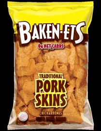 Picture of Baken-ets Traditional Fried Pork Skins / Chicharrones 3.75 oz (Pack of 3) - Item No. 28400-01587
