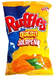 Picture of Ruffles Queso Jalapeno Potato Chips by Sabritas 6.5 oz (Pack of 3) - Item No. 28400-03324