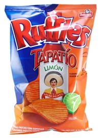 Picture of Ruffles Tapatio Limon Flavored Potato Chips (Pack of 3) - Item No. 28400-03806