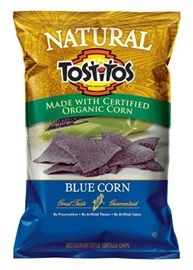 Picture of TOSTITOS Natural Blue Corn Restaurant Style Tortilla Chips 9 oz (Pack of 3)- Item No.28400-07134