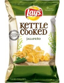 Picture of Lay's Kettle Cooked Jalapeno Potato Chips 8.5 oz (Pack of 3) - Item No. 28400-08290