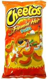 Picture of Cheetos Flamin' Hot Puffs Jumbo 8.5 oz (Pack of 3)- Item No.28400-08396