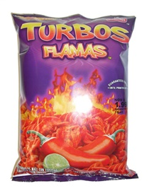 Picture of Sabritas Turbos Flamas Flavored Corn Snacks 9.25 oz (Pack of 3) - Item No. 28400-09743