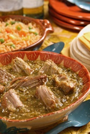 Picture of Pork in Green Sauce - Del Real Foods Chile Verde 32 oz - Item No. 29793-00111