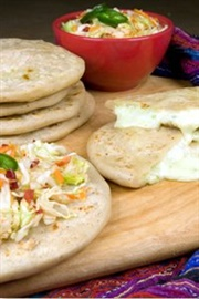 Picture of Pupusas Cheese & Bell Pepper Vegetarian (10 Count)by Del Real Foods 3.30 lbs- Item No.29793-00701