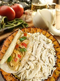 Picture of Shredded Chicken for Tacos Del Real Foods 32 oz - Item No. 29793-02401