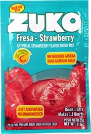 Picture of Zuko Strawberry Flavor Drink Mix (1 Liter / 0.9 oz) 3 Pack - Item No. 30108-00016