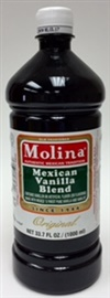 Picture of Mexican Vanilla Blend - Vanillin by Molina - 33.7 FL OZ - Item No. 3193