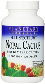 Picture of Cactus Nopal Pills by Planetary Herbals - For Diabetes and Weight Loss - 120 tablets - Item No. 3311925105