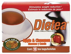 Picture of Tea - Dietea Apple & Cinnamon Diet Tea by Malabar - 18 tea bags - Item No. 3311925418