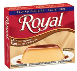 Picture of Flan - Caramel Custard by Royal - 5.5 oz (Pack of 3)- Item No.3336
