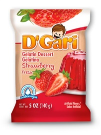 Picture of D'Gari Strawberry Gelatin 6 oz (Pack of 3)- Item No.35257-00213
