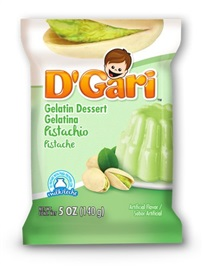 Picture of D'Gari Pistachio Gelatin 6 oz (Pack of 3)- Item No.35257-00214