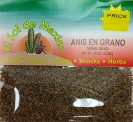 Picture of Anis en Grano - Anise Seeds by El Sol de Mexico .80 oz - Item No. 3650