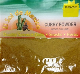 Picture of Curry Powder by El Sol de Mexico .70 oz. - Item No. 3663