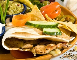 Picture of Grilled Chicken and Goat Cheese Quesadilla Recipe - Item No. 367-grilled-chicken-and-goat-cheese-quesadilla